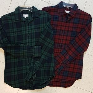 Two, Gap boys flannel shirts, long sleeve
